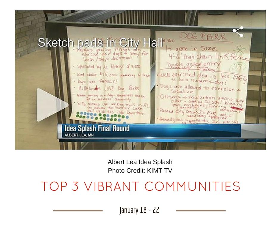 TOP 3 VIBRANT COMMUNITIES