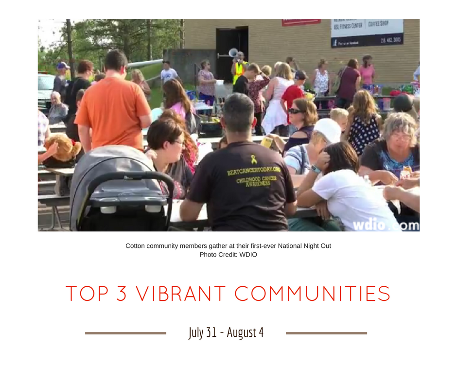 TOP 3 VIBRANT COMMUNITIES